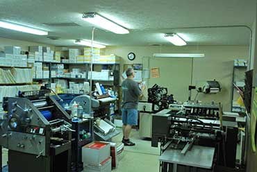 The print shop at Service Office Supply and Printing